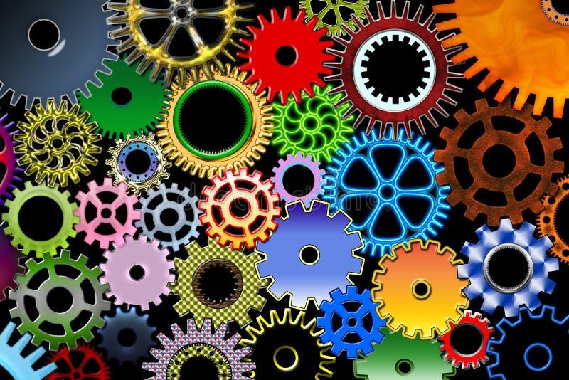 шестерни цвета иллюстрация вектора