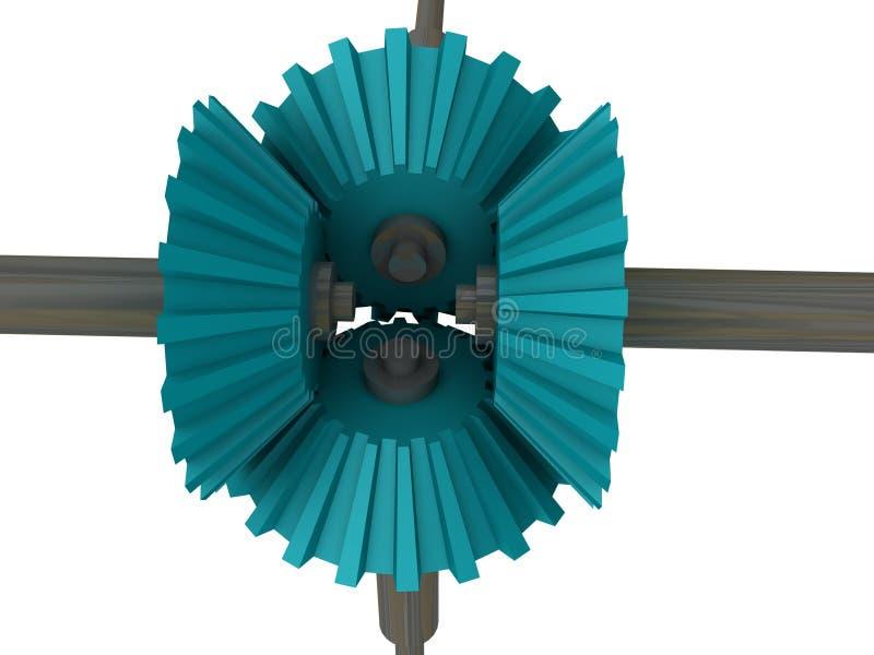 шестерни 45 градусов иллюстрация вектора