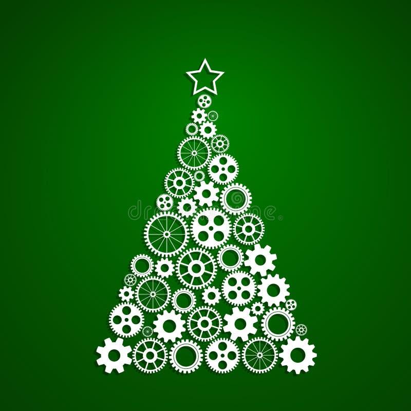 Шестерни f рождественской елки бесплатная иллюстрация