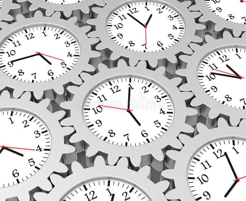Шестерня времени иллюстрация вектора