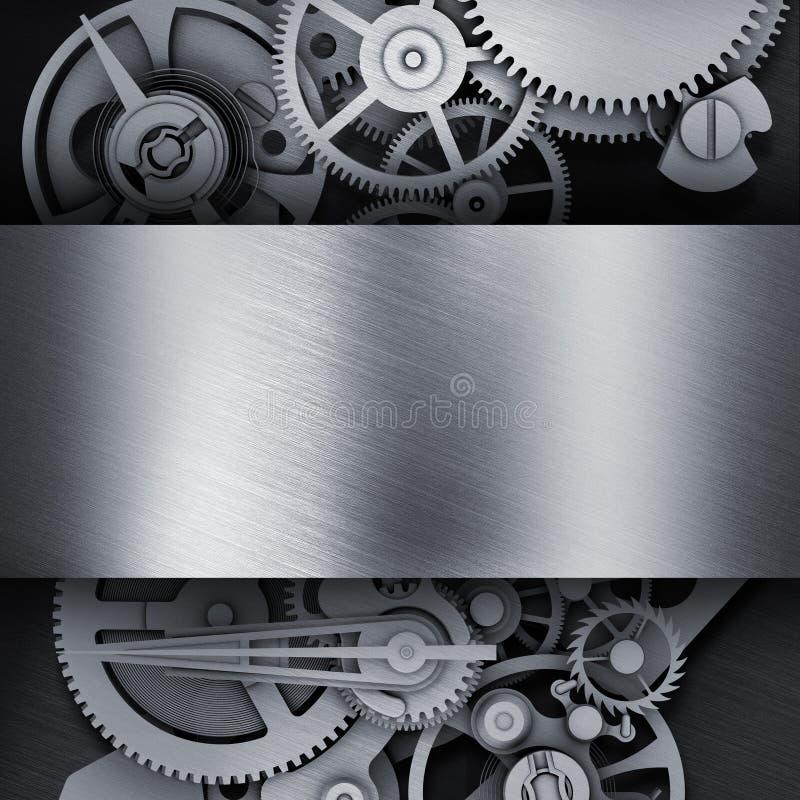 Шестерня в рамке металла иллюстрация штока