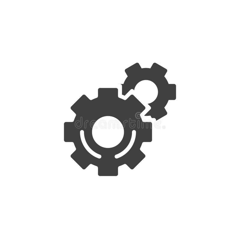 Шестерня, значок вектора установок бесплатная иллюстрация