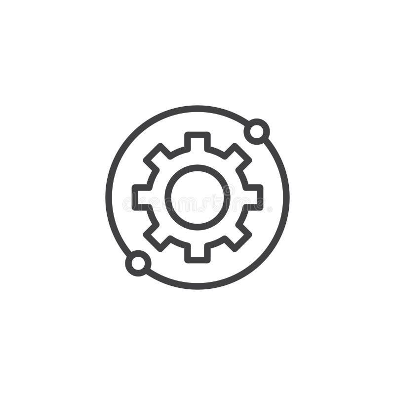 Шестерня, значок плана установок круговой бесплатная иллюстрация
