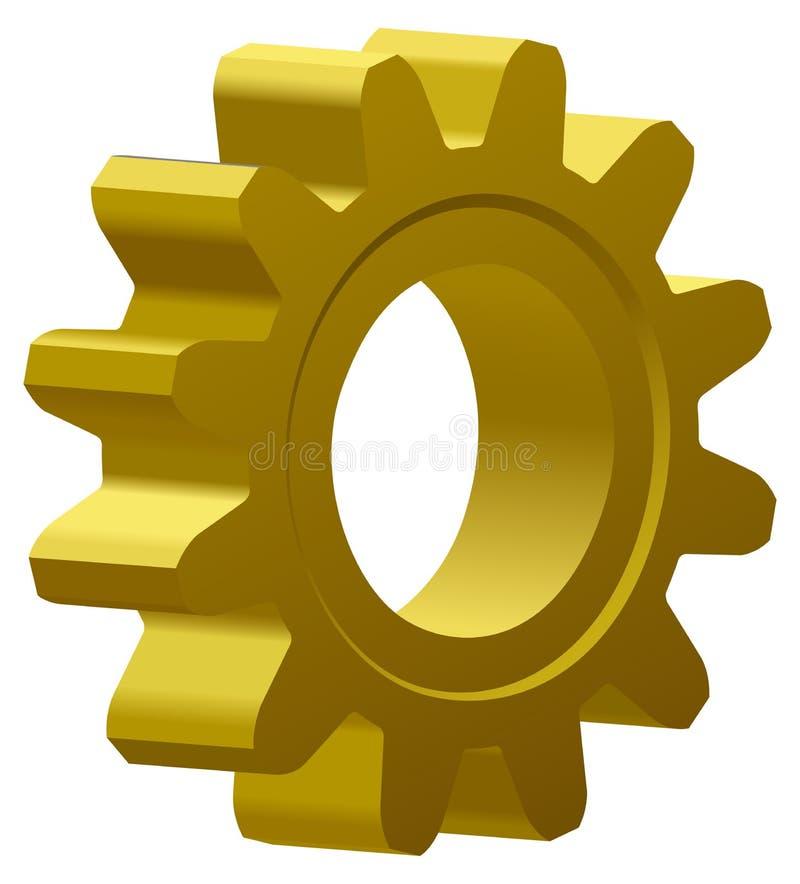 шестерня золотистая иллюстрация штока