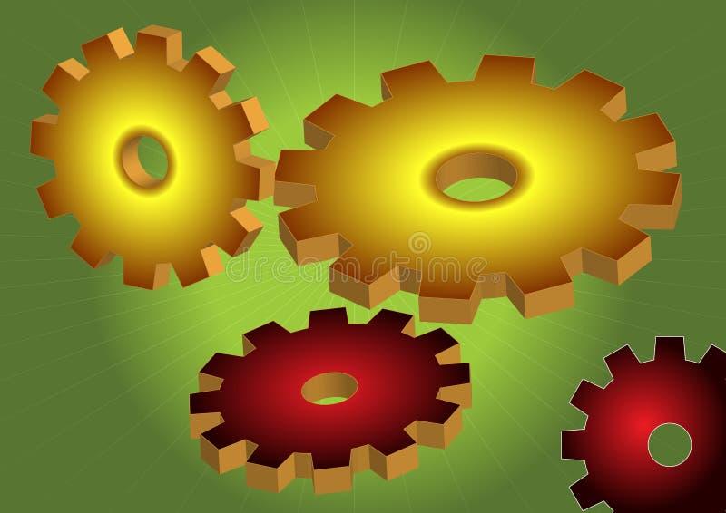 шестерня инженерства иллюстрация штока