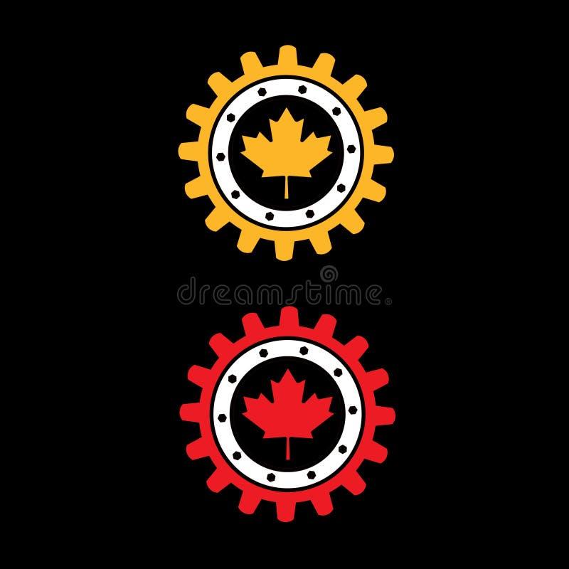 шестерня Канады иллюстрация штока