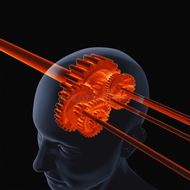 Шестерня мозга иллюстрация вектора