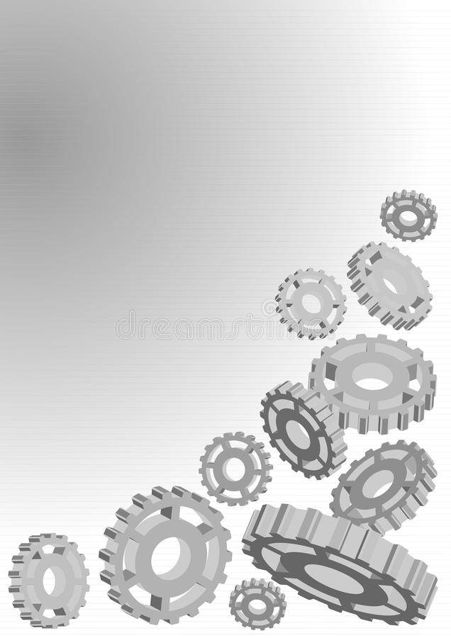 шестерня предпосылки металлическая бесплатная иллюстрация