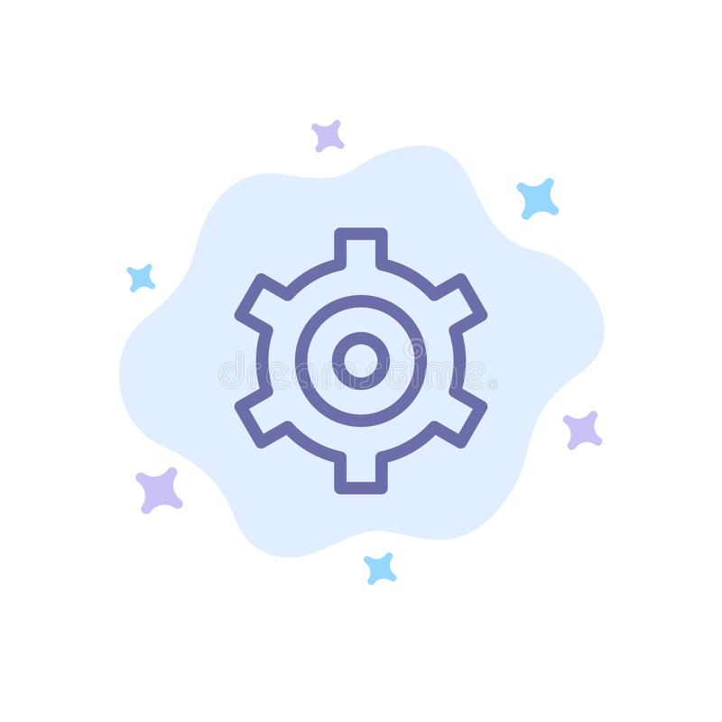 Шестерня, установка, значок Cogs голубой на абстрактной предпосылке облака бесплатная иллюстрация