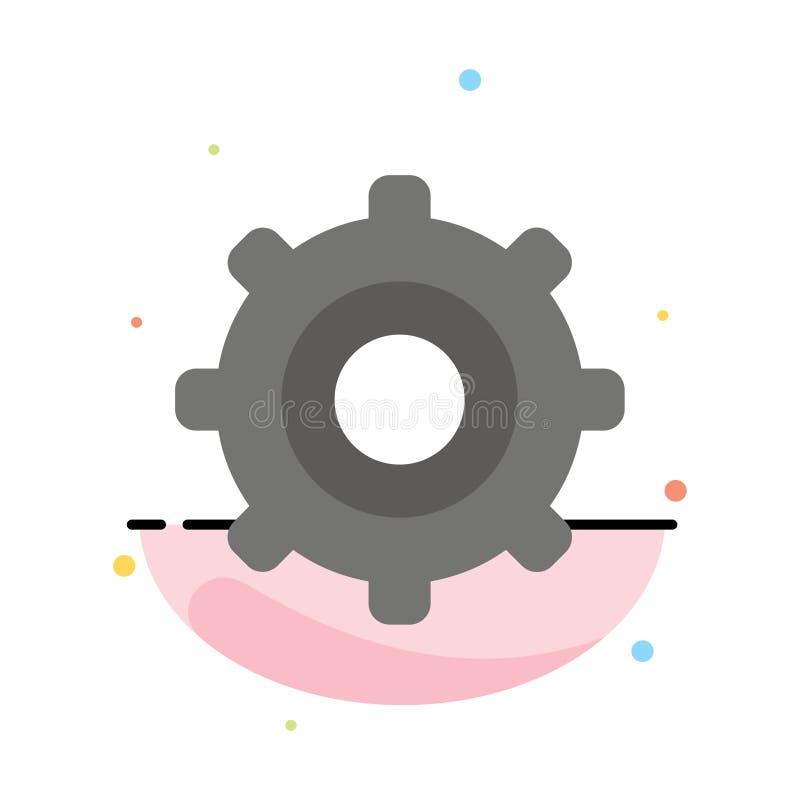 Шестерня, установка, Cogs резюмирует плоский шаблон значка цвета иллюстрация вектора