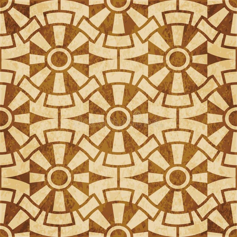 Шестерня c ретро коричневой предпосылки grunge текстуры пробочки безшовной круглая бесплатная иллюстрация