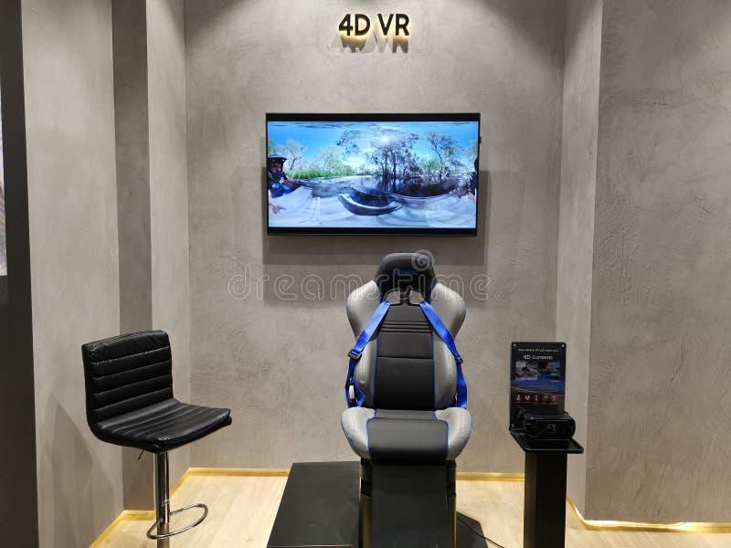 Шестерня VR опыта Samsung 4D стоковая фотография