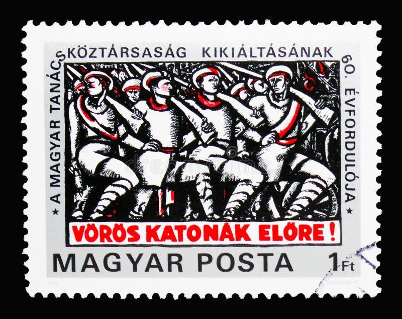 шестидесятая годовщина венгерской советской республики, основывать s стоковое изображение rf