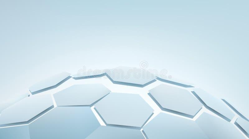 шестиугольники 3d иллюстрация вектора