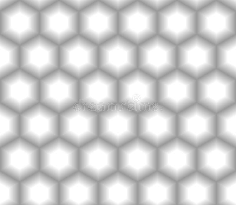 Шестиугольник предпосылки сота текстуры объемной, трехмерной серой шкалы безшовный бесплатная иллюстрация