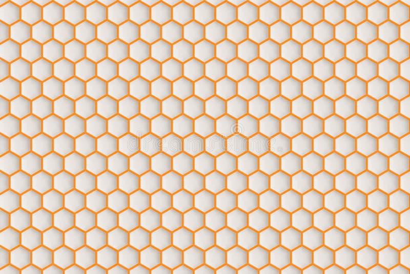 Шестиугольная сделанная по образцу поверхность стоковое фото rf