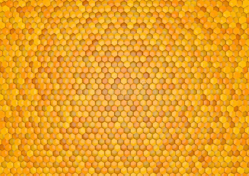 Шестиугольник меда стоковое изображение rf