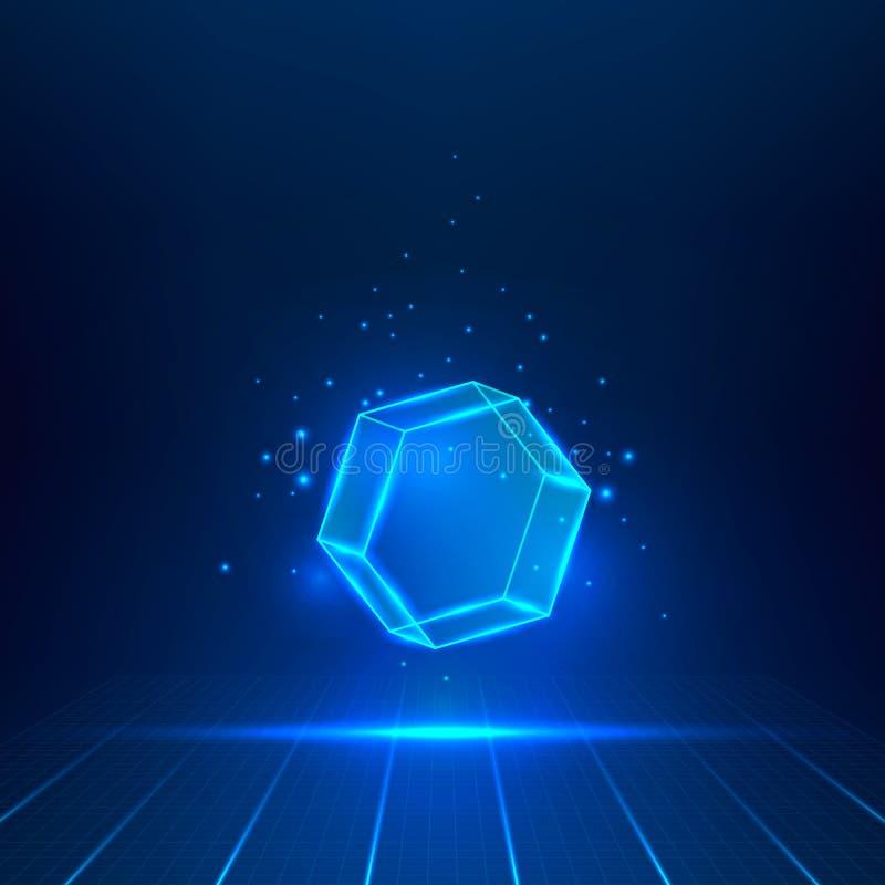 Шестиугольник стекла вектора иллюстрация штока