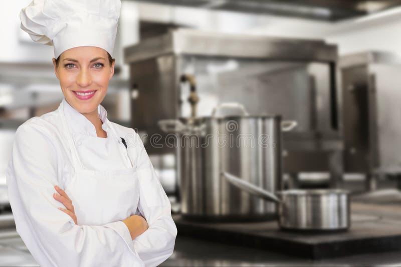 Шеф-повар в кухне стоковое изображение rf