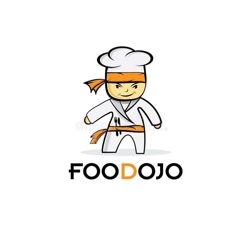 шеф-повар еды карате иллюстрация вектора