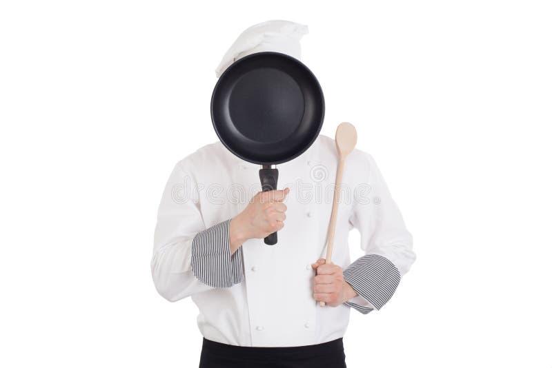 Шеф-повар за лотком стоковая фотография