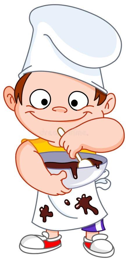 шеф-повар мальчика иллюстрация вектора