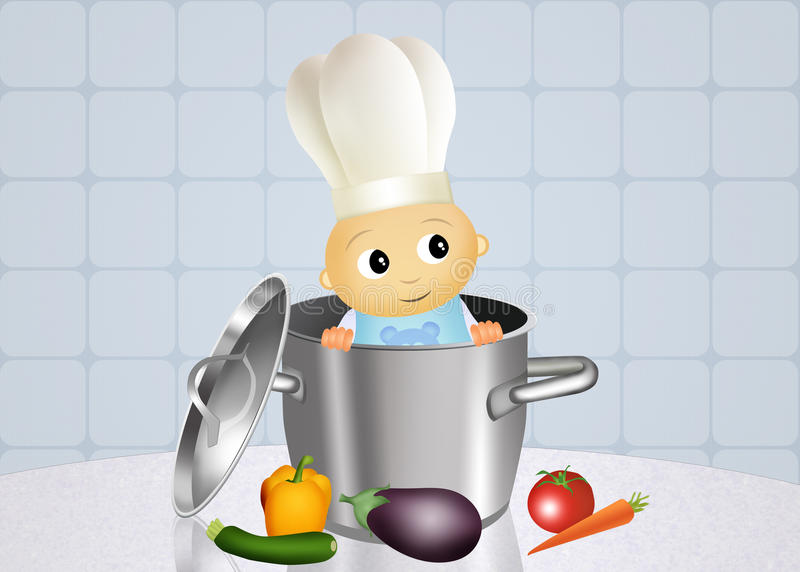 Шеф-повар младенца иллюстрация вектора