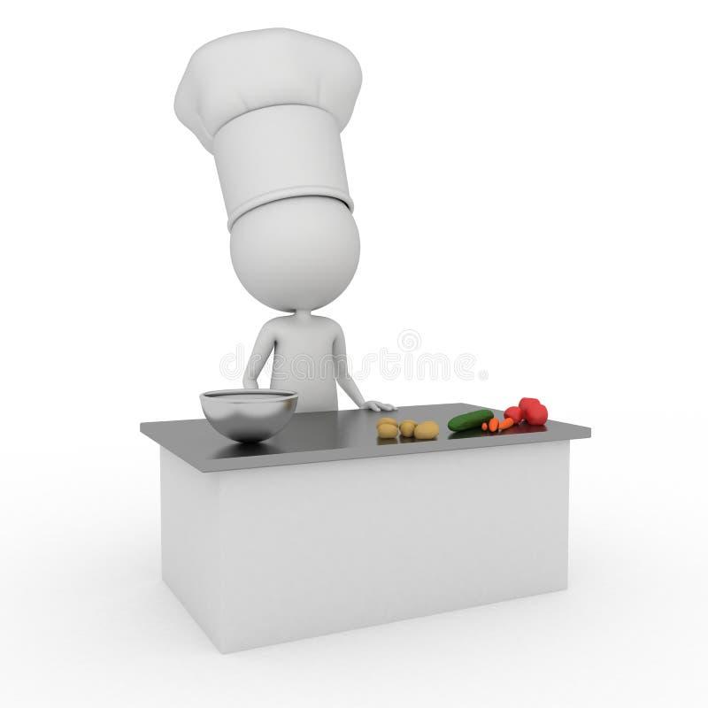 шеф-повар немногая иллюстрация штока
