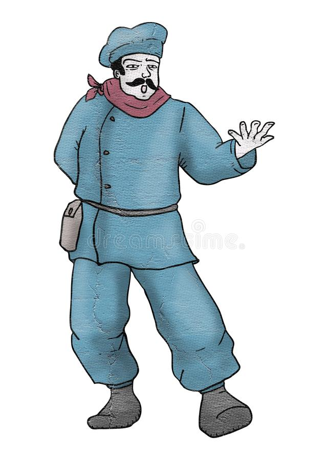 Шеф-повар певицы бесплатная иллюстрация