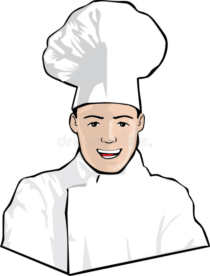 шеф-повар счастливый иллюстрация штока
