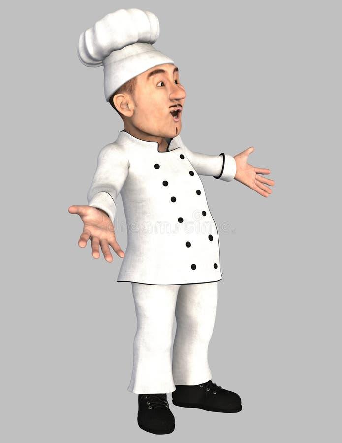 шеф-повар счастливый бесплатная иллюстрация