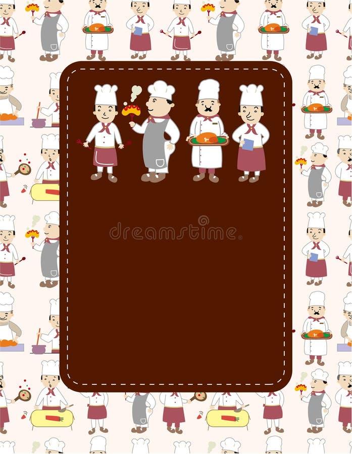 шеф-повар шаржа карточки бесплатная иллюстрация