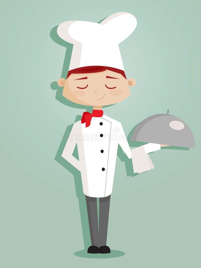 шеф-повар шаржа ретро иллюстрация штока