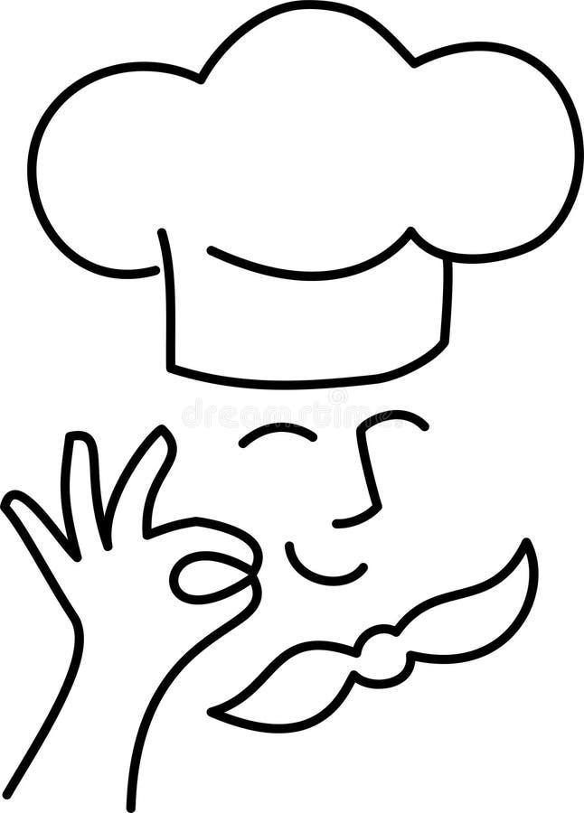 шеф-повар шаржа ai иллюстрация вектора