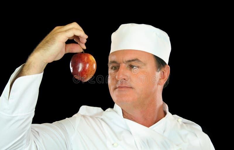 шеф-повар яблока стоковые изображения