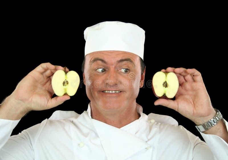 шеф-повар яблока стоковые изображения rf