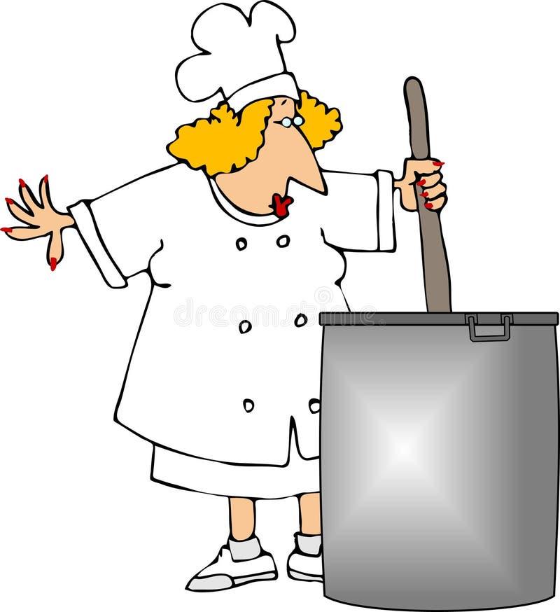 Download шеф-повар иллюстрация штока. иллюстрации насчитывающей потеха - 650632