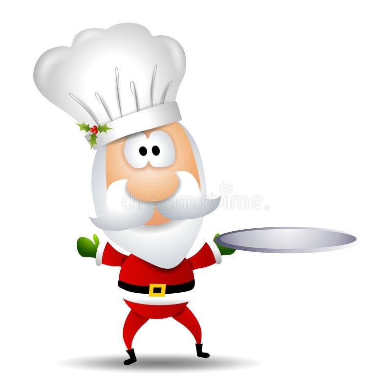 шеф-повар claus santa иллюстрация вектора