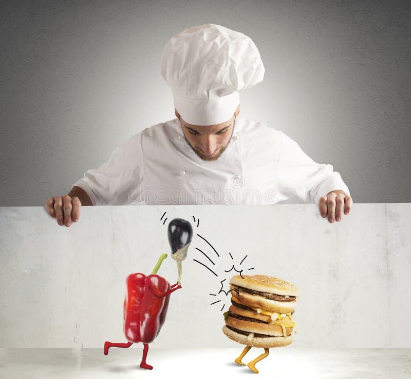 Шеф-повар Vegan стоковое фото rf