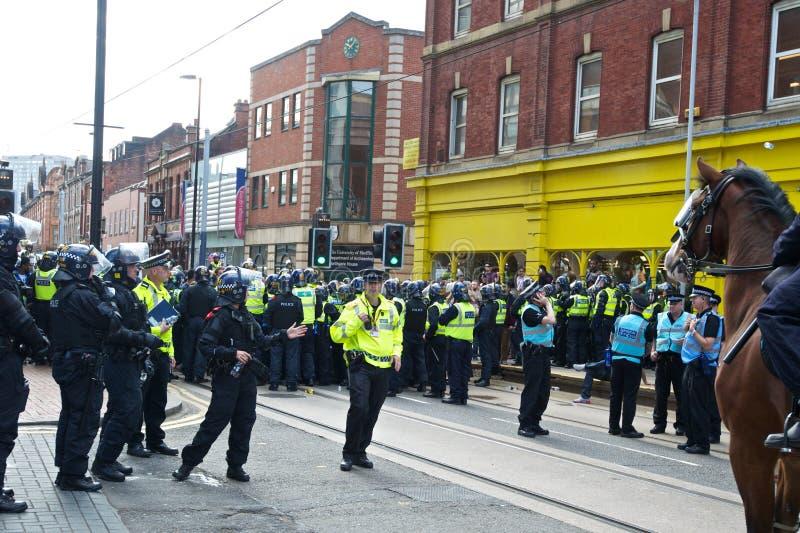 Шеф полиции полицейскиев бунта контролера командующих стоковые фотографии rf