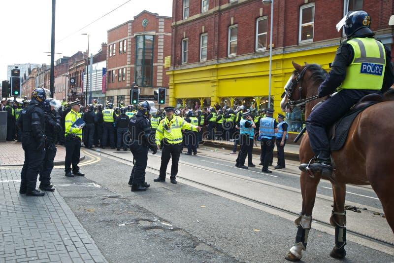Шеф полиции полицейскиев бунта контролера командующих стоковое изображение rf