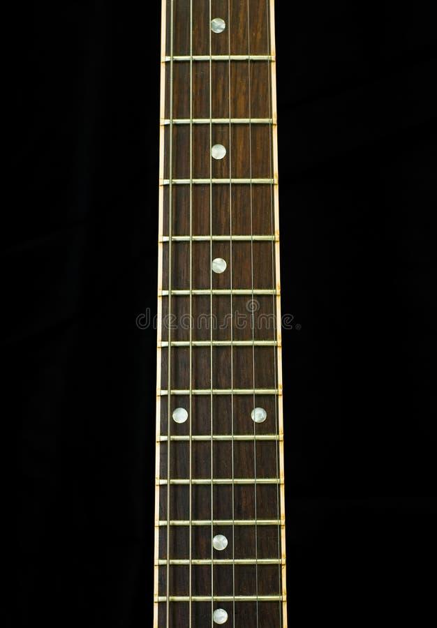 шея гитары стоковое изображение