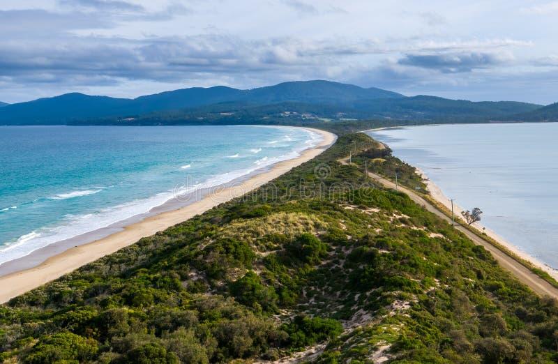 Шея на острове Bruny, Тасмании стоковое фото rf
