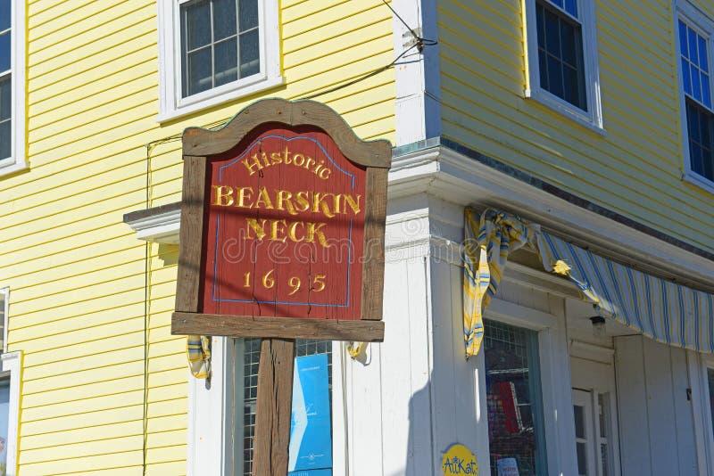 Шея Bearskin в Rockport, Массачусетсе, США стоковое изображение rf