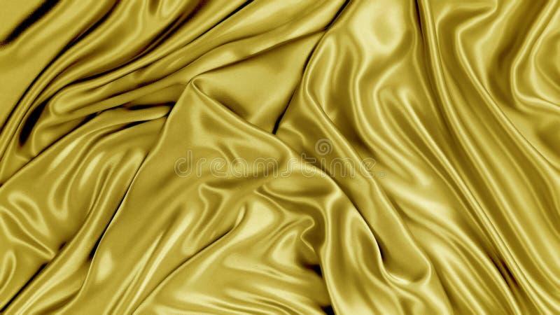 Шелк золота стоковые изображения rf