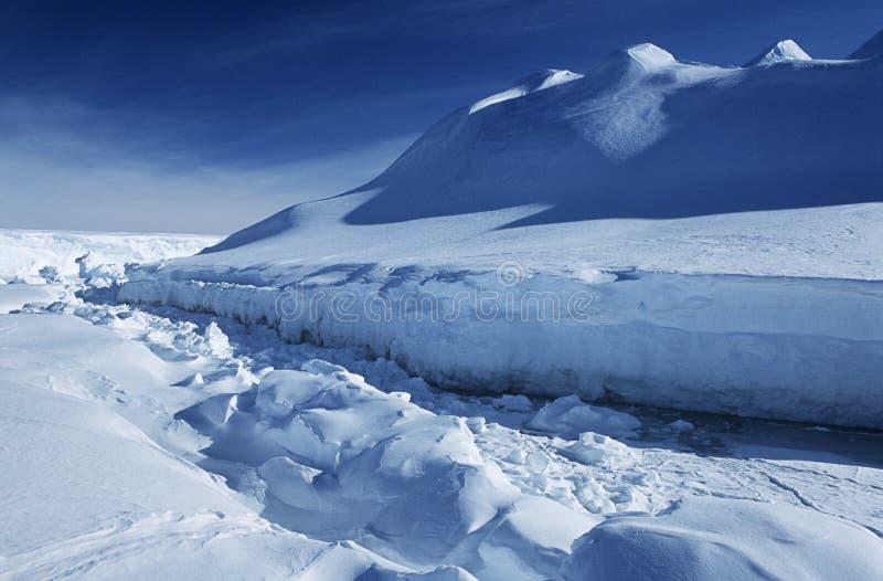 Шельфовый ледник Riiser Larsen моря Антарктики Weddell стоковая фотография rf
