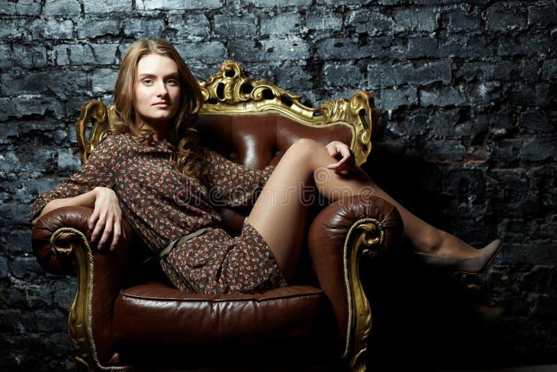 Шикарная дама стоковая фотография rf