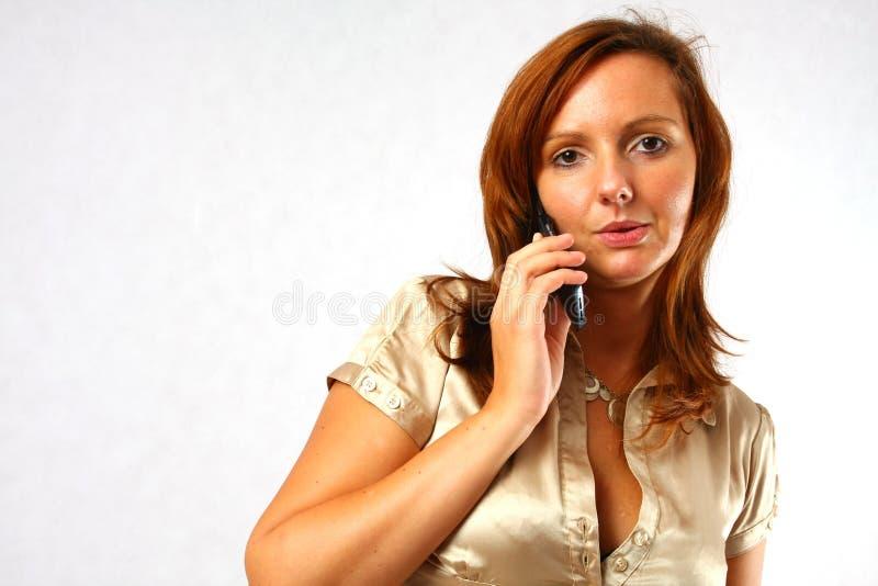 шикарная женщина телефона стоковая фотография rf