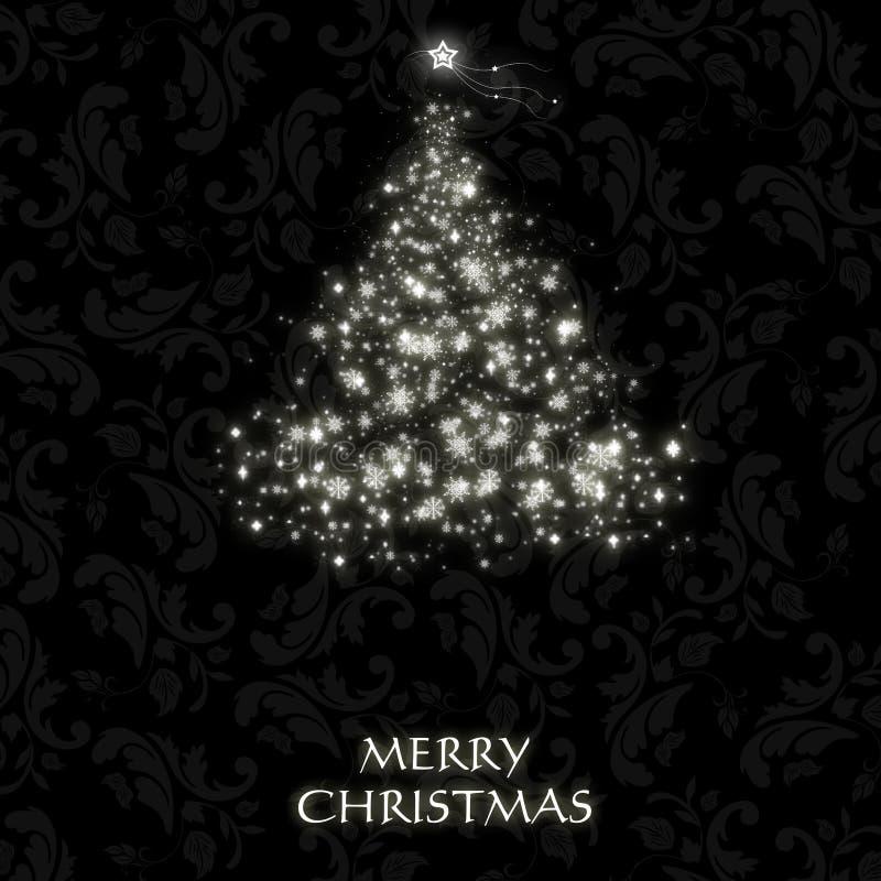 Шикарная рождественская открытка с символическим валом иллюстрация штока