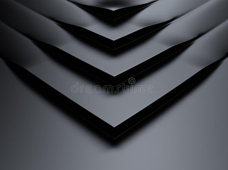 Шикарная металлическая предпосылка с углами иллюстрация вектора